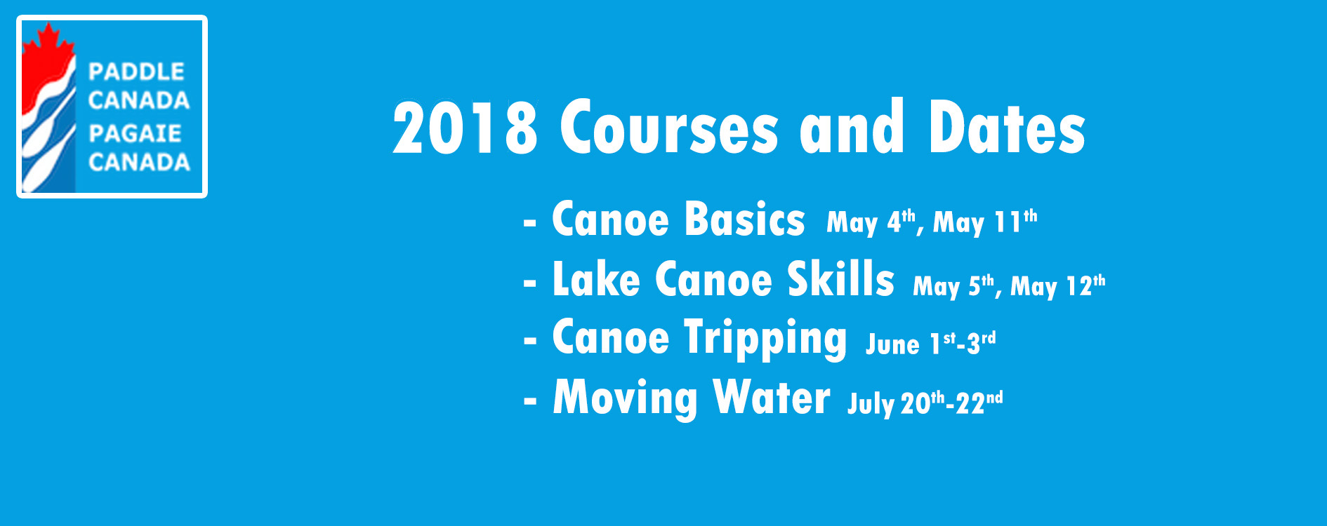 Paddle Canada Courses 2019